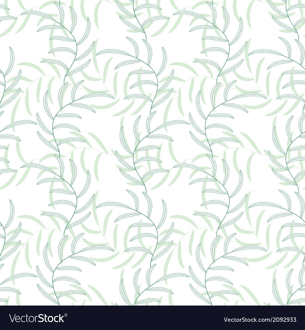 Leaf floral abstract seamless background pattern vector | Price: 1 Credit (USD $1)