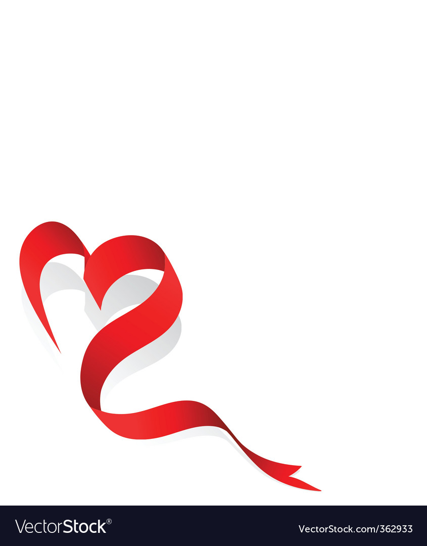 Love ribbon vector | Price: 1 Credit (USD $1)