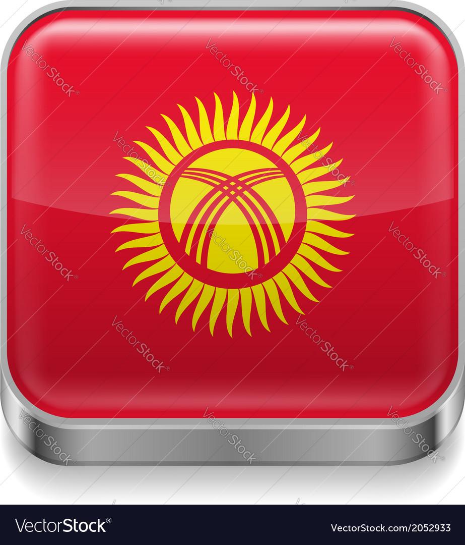 Metal icon of kyrgyzstan vector | Price: 1 Credit (USD $1)