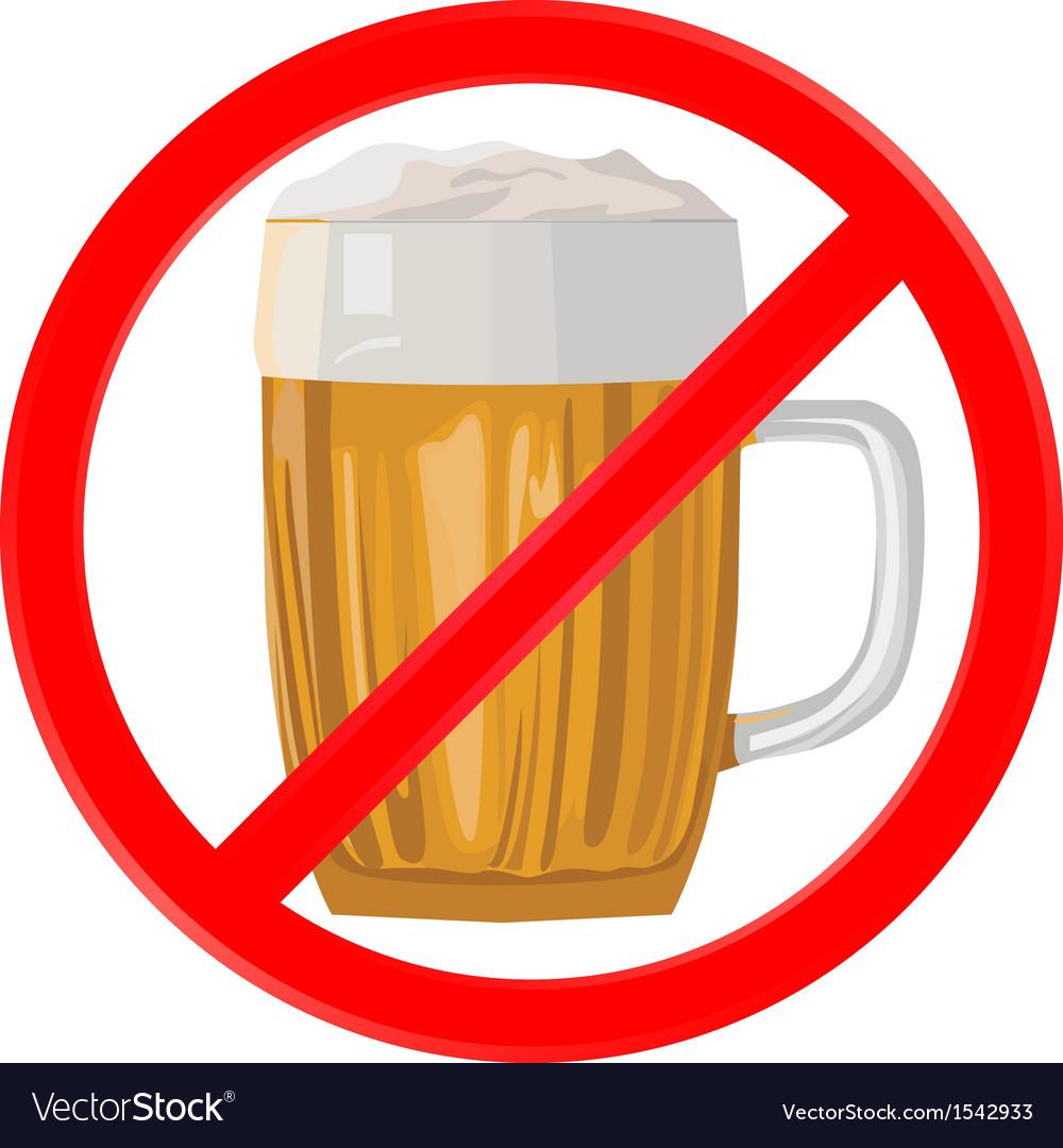 No alcohol vector | Price: 1 Credit (USD $1)