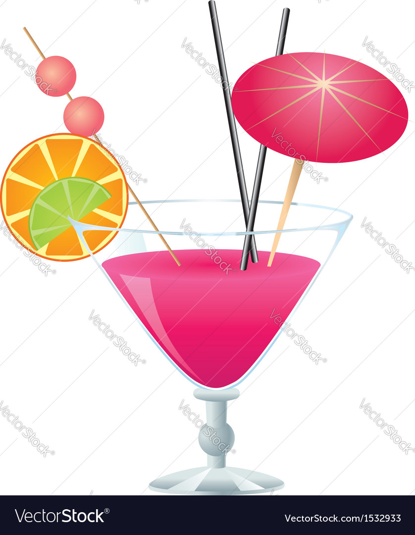 Pink cocktail vector | Price: 1 Credit (USD $1)