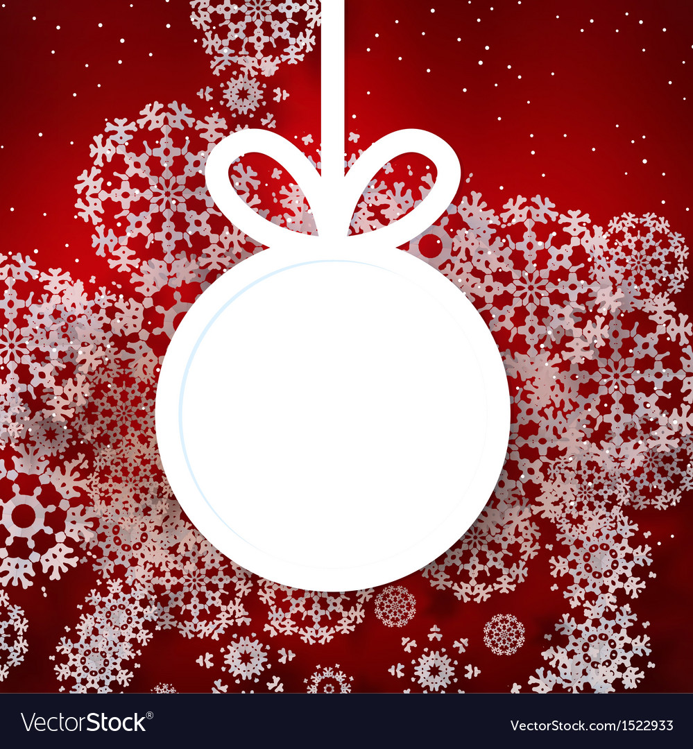 Red shiny christmas background with bauble vector | Price: 1 Credit (USD $1)