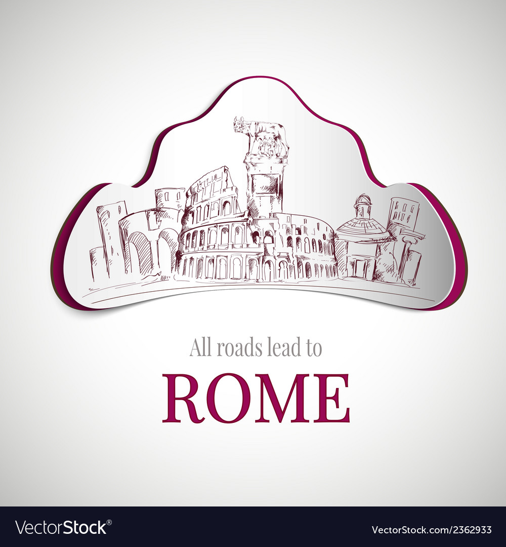 Rome city emblem vector | Price: 1 Credit (USD $1)