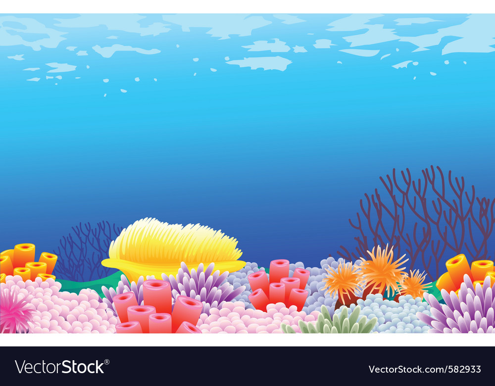 Sea life background vector | Price: 1 Credit (USD $1)
