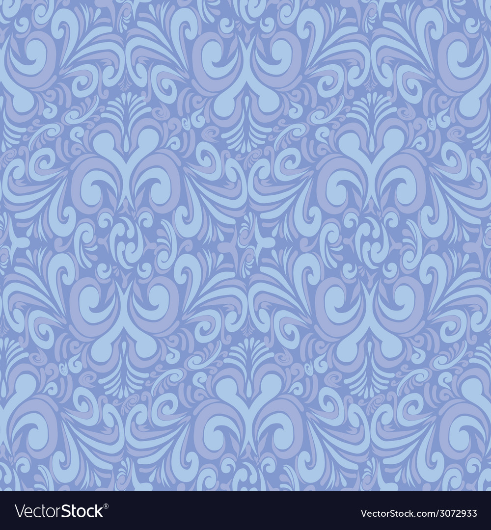 Seamless vintage blue background vector | Price: 1 Credit (USD $1)