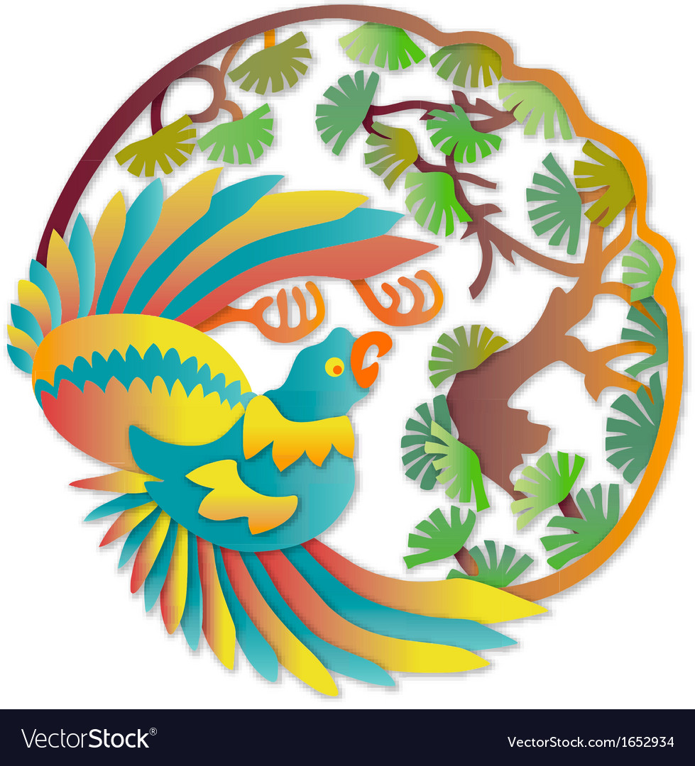 Asian parrot vector | Price: 1 Credit (USD $1)