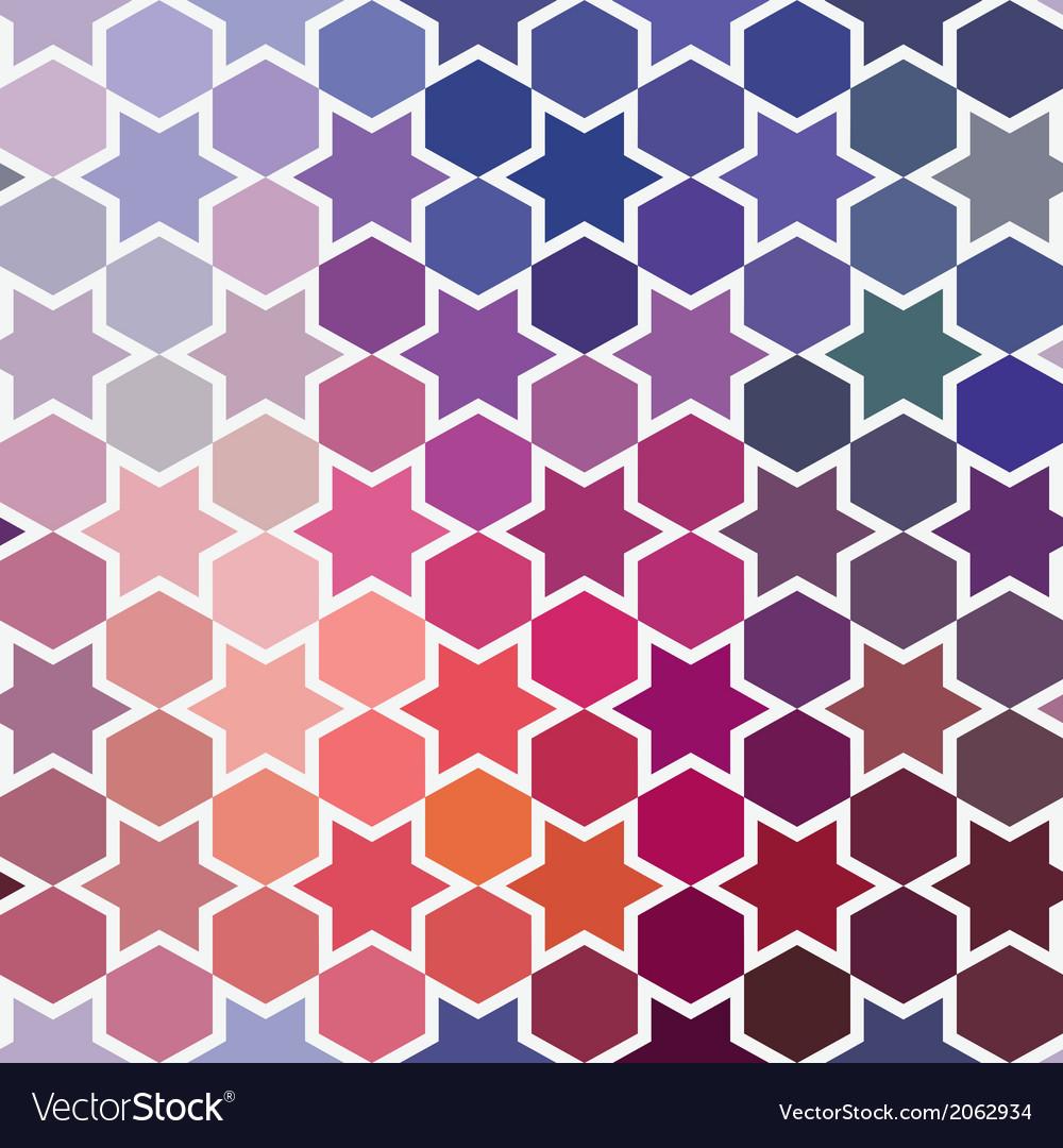 Background of repeating geometric stars spectrum vector | Price: 1 Credit (USD $1)