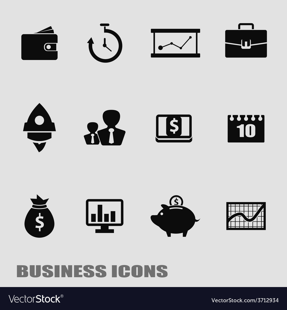 Business template finance web icons vector | Price: 1 Credit (USD $1)