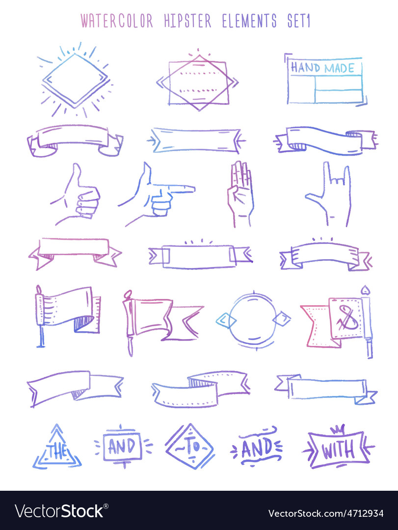 Design elements set catchwords ribbons vector | Price: 1 Credit (USD $1)