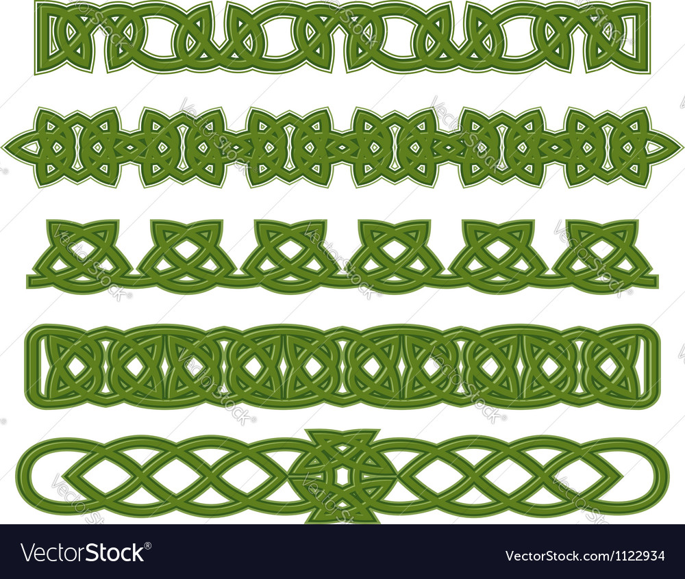Green celtic ornaments vector | Price: 1 Credit (USD $1)