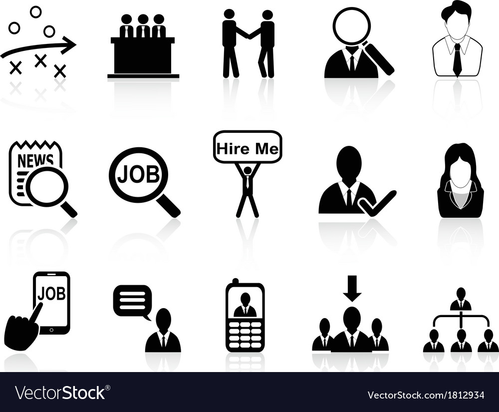 Job search icons set vector | Price: 1 Credit (USD $1)