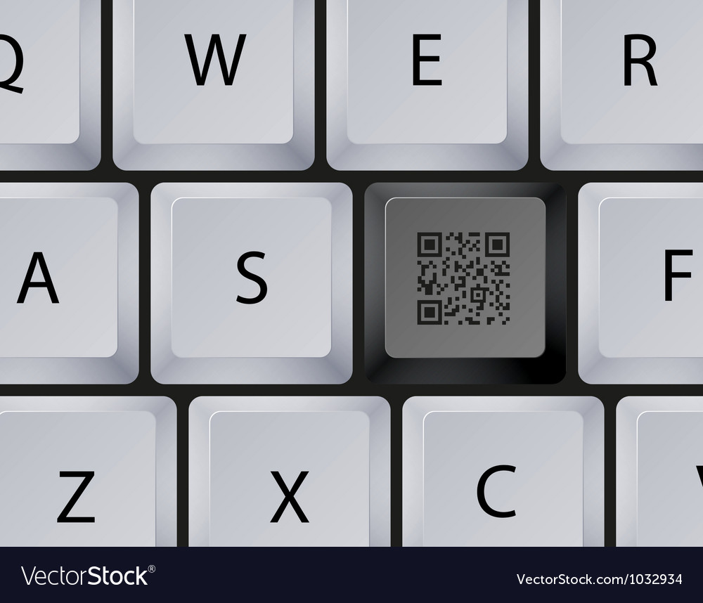 Keyboard qr code button vector | Price: 1 Credit (USD $1)