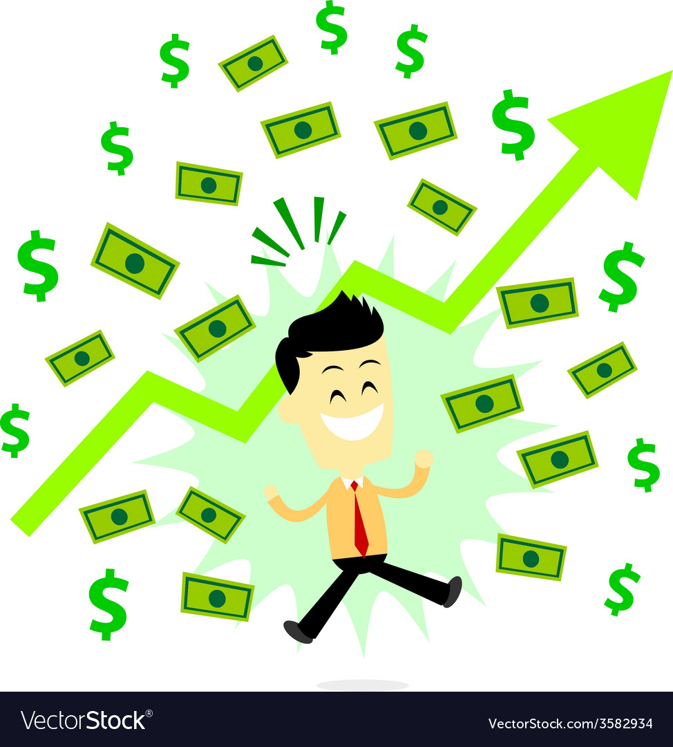 Man making profit in business vector | Price: 1 Credit (USD $1)