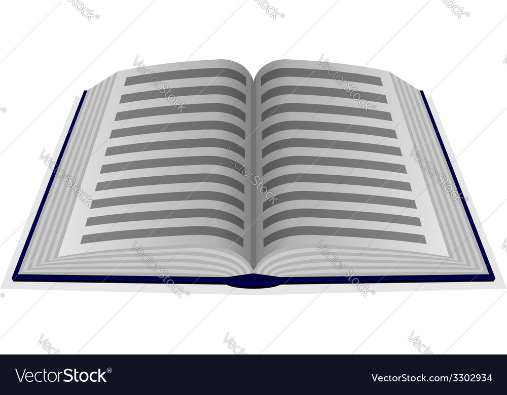 Opened book vector | Price: 1 Credit (USD $1)