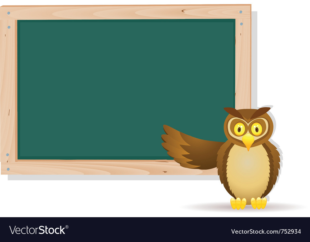 Owl with board vector | Price: 3 Credit (USD $3)