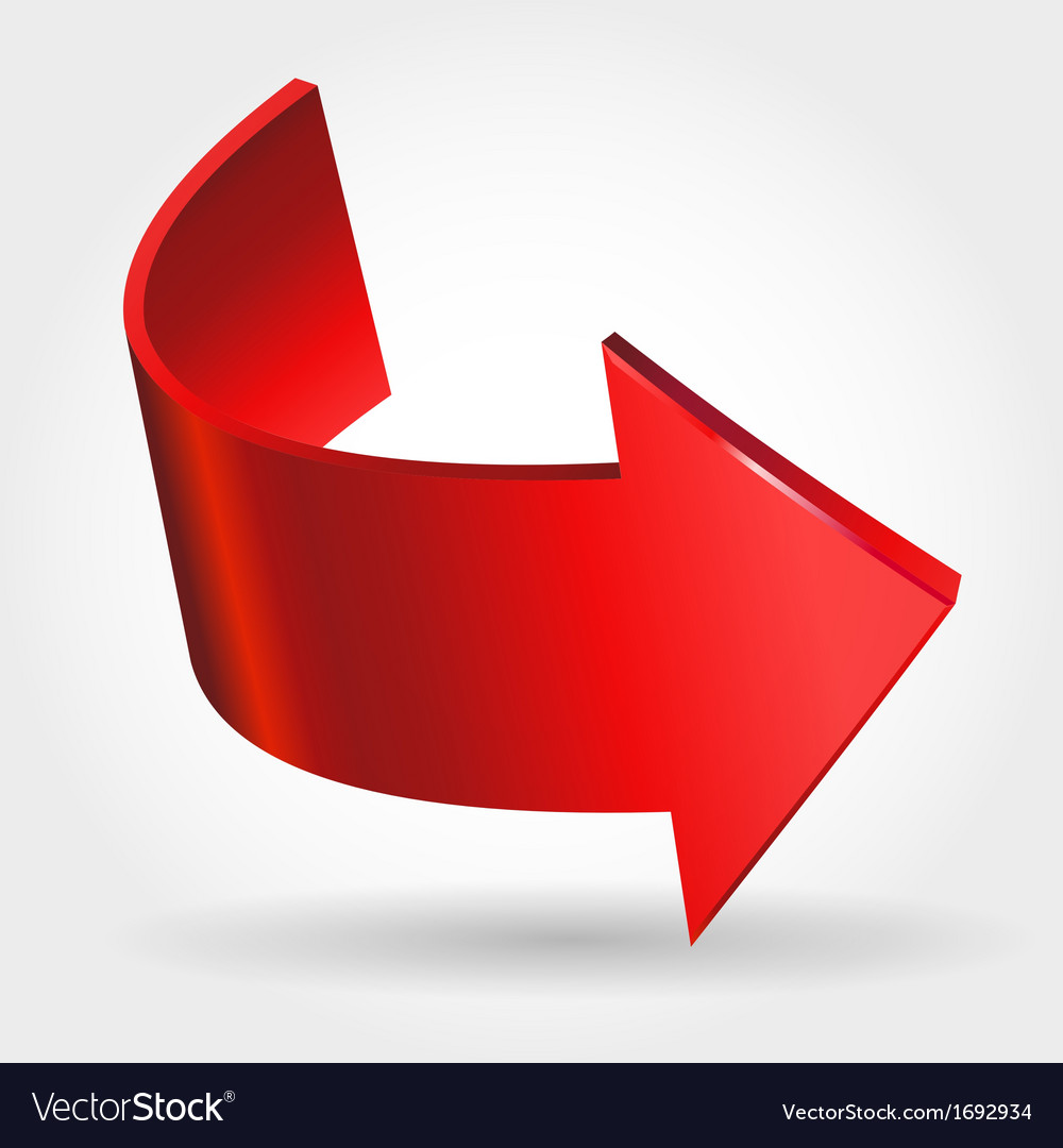 Red arrow vector | Price: 1 Credit (USD $1)