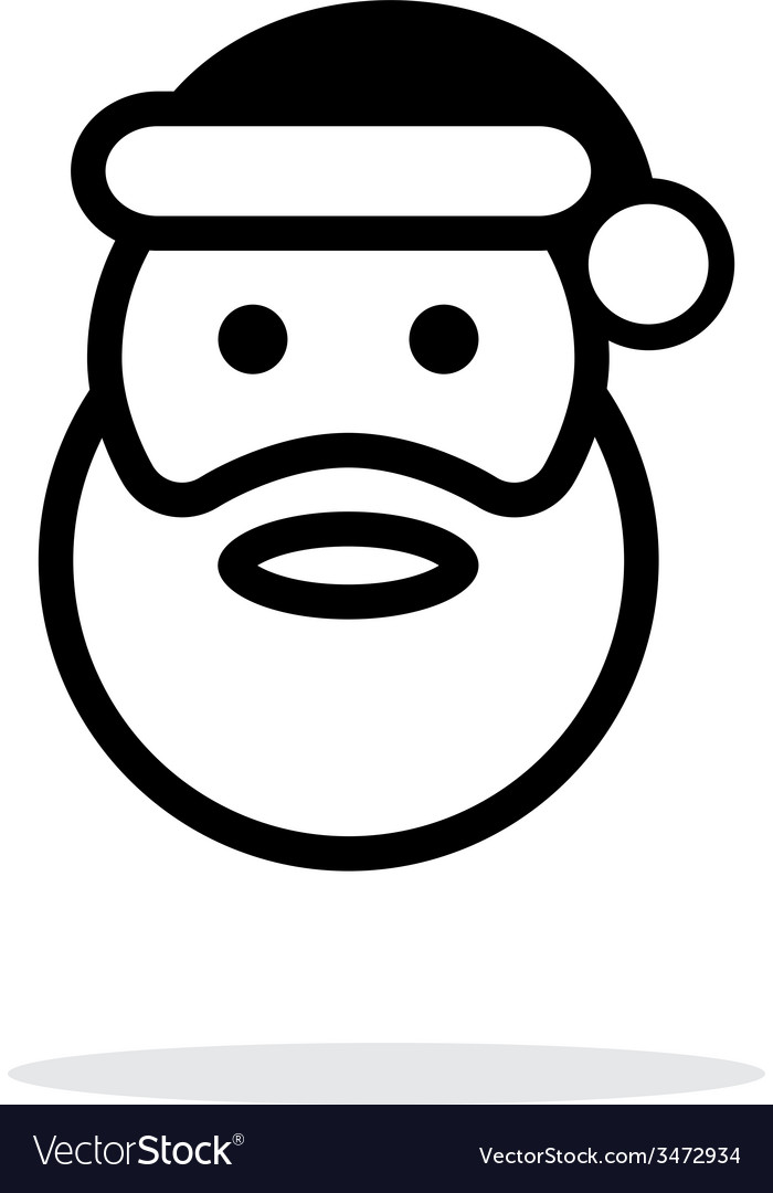 Santa claus icon on white background vector | Price: 1 Credit (USD $1)