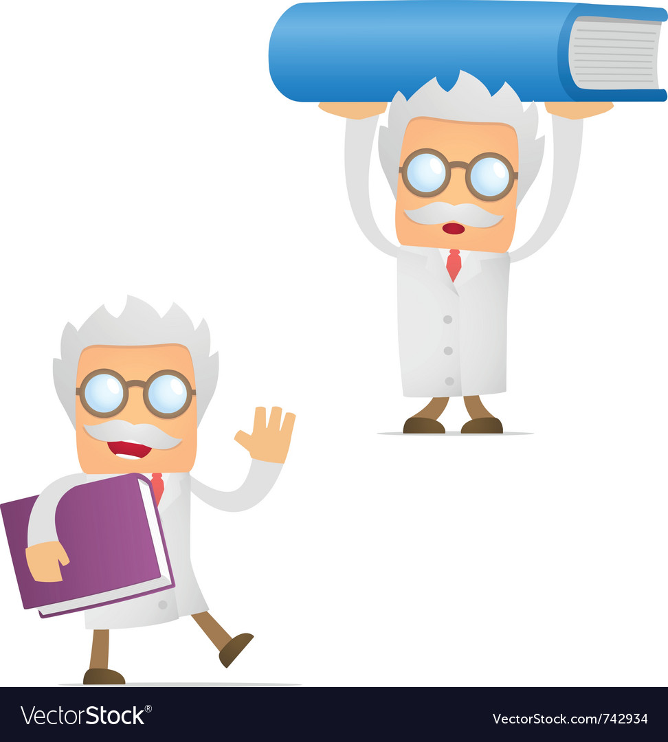 Scientist with book vector | Price: 1 Credit (USD $1)