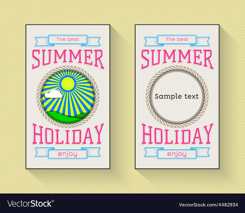 Summer holiday party festival logos badges vector | Price: 1 Credit (USD $1)