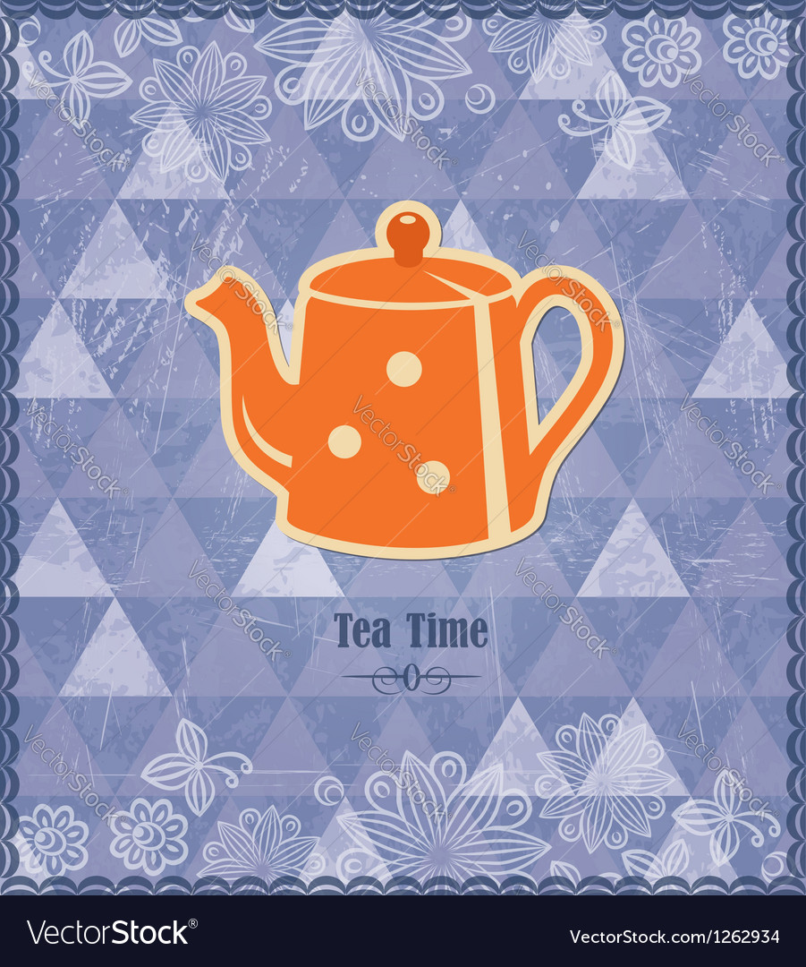 Tea time vintage pattern vector | Price:  Credit (USD $)