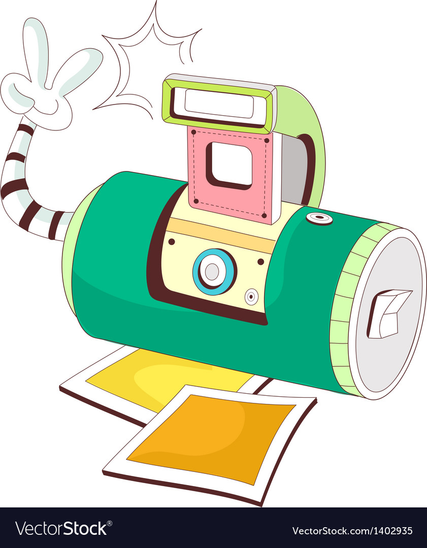 A taking a photo using a polaroid vector   Price: 1 Credit (USD $1)