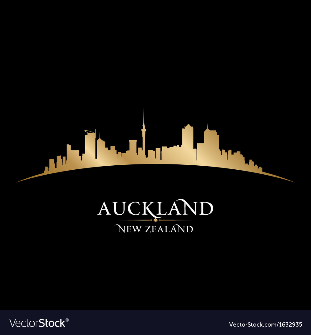Auckland new zealand city skyline silhouette vector | Price: 1 Credit (USD $1)