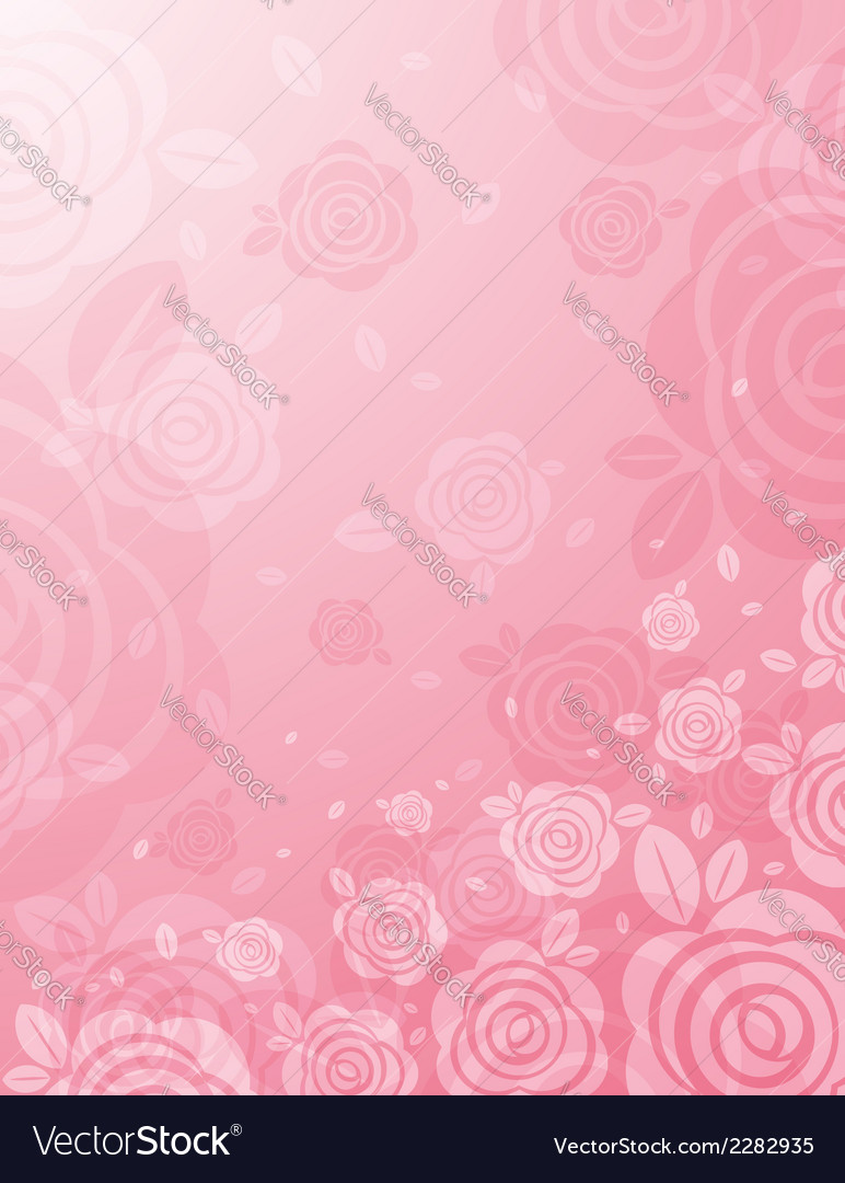 Background with many pink roses vector | Price: 1 Credit (USD $1)