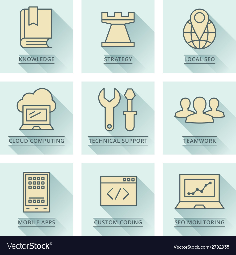 Business infographics icons developmentt and vector | Price: 1 Credit (USD $1)
