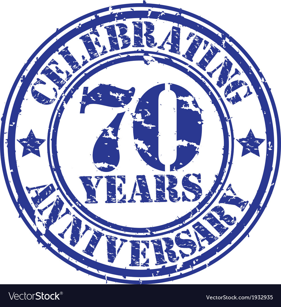 Celebrating 70 years anniversary grunge rubber sta vector | Price: 1 Credit (USD $1)