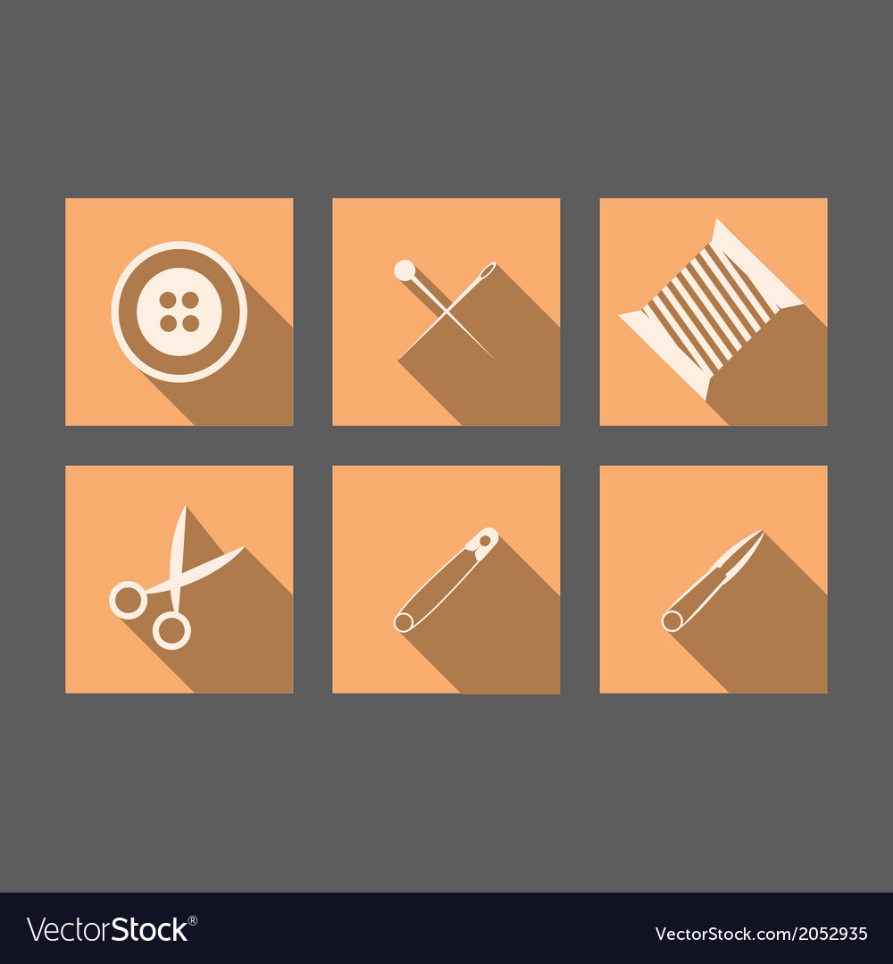Flat icons for handmade vector | Price: 1 Credit (USD $1)