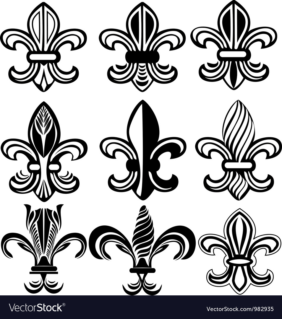 Fleur de lis new orleans symbol vector | Price: 1 Credit (USD $1)