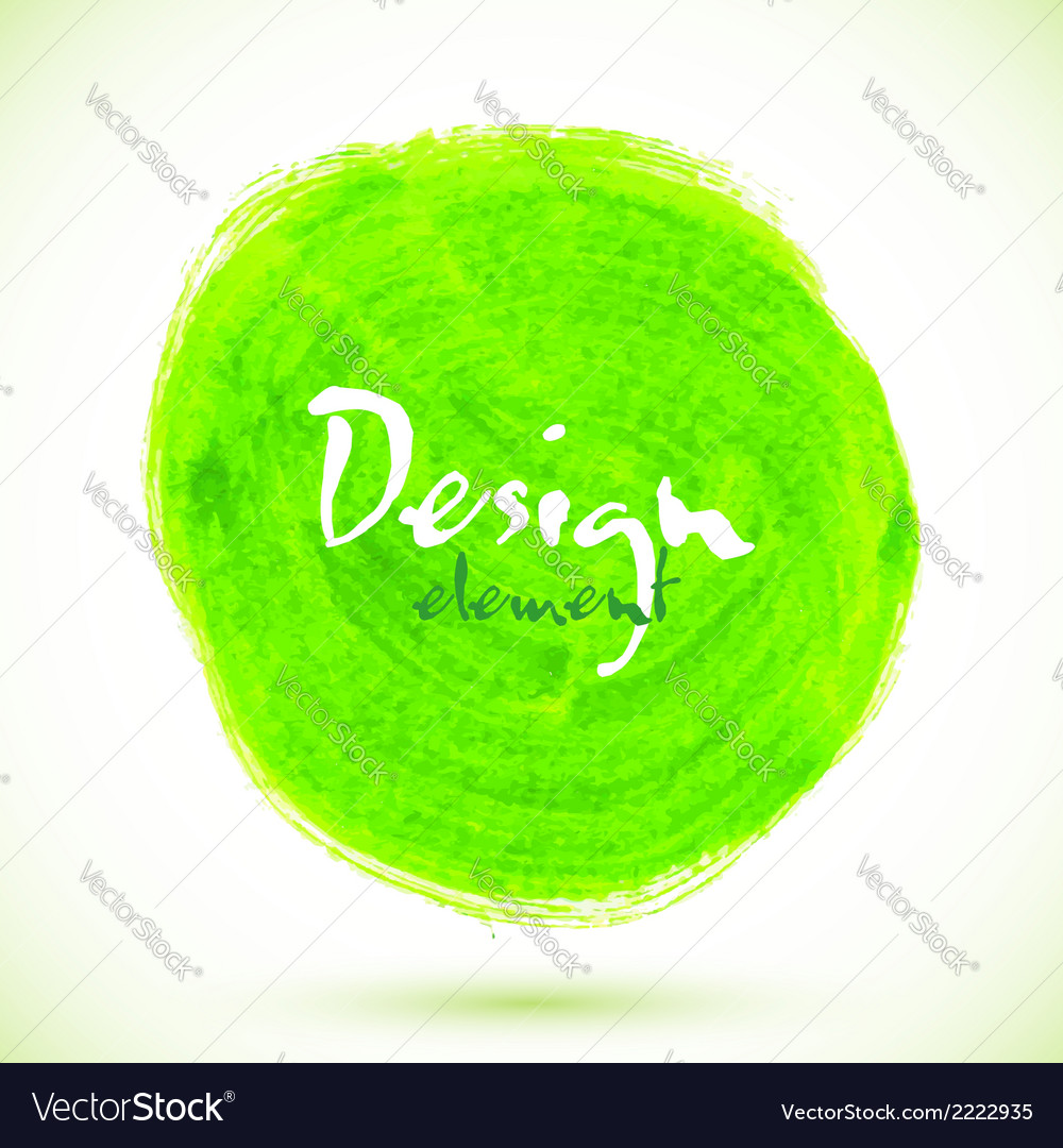 Green acrylic paint circle vector | Price: 1 Credit (USD $1)