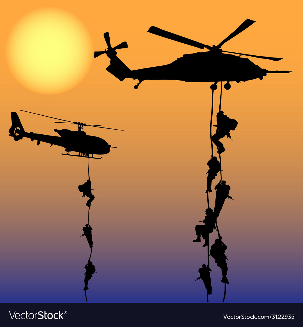 Helicopter landing-1 vector | Price: 1 Credit (USD $1)