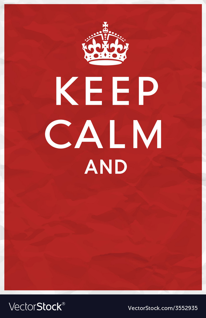 Keep calm editorial vector | Price: 1 Credit (USD $1)