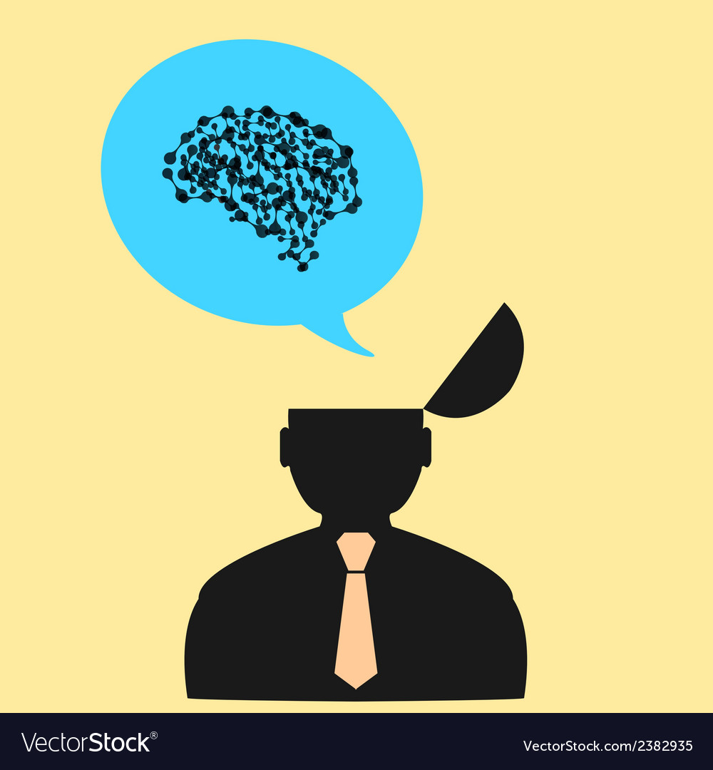Man and his brain vector | Price: 1 Credit (USD $1)