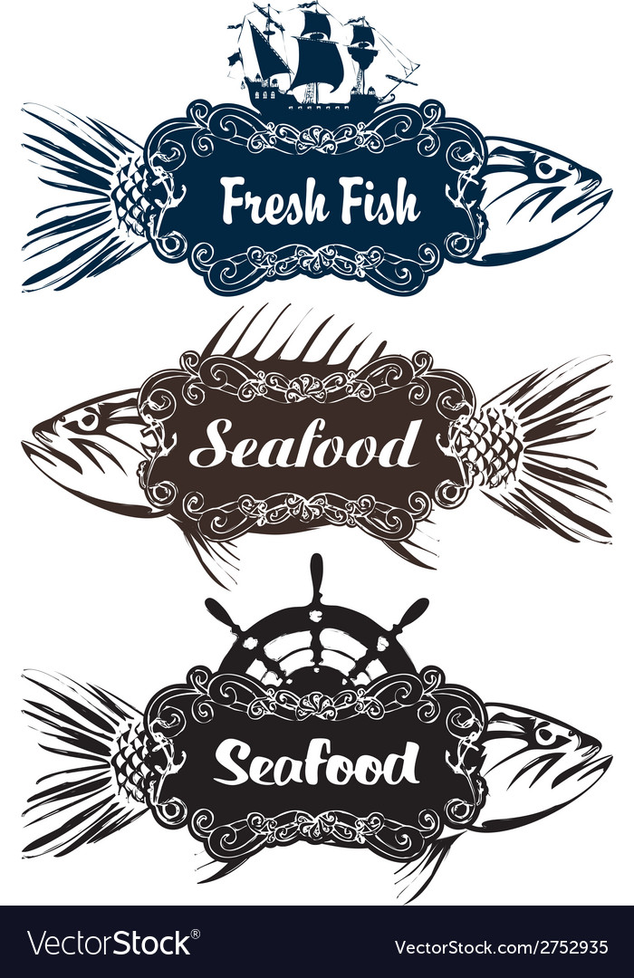Seafood vector | Price: 1 Credit (USD $1)