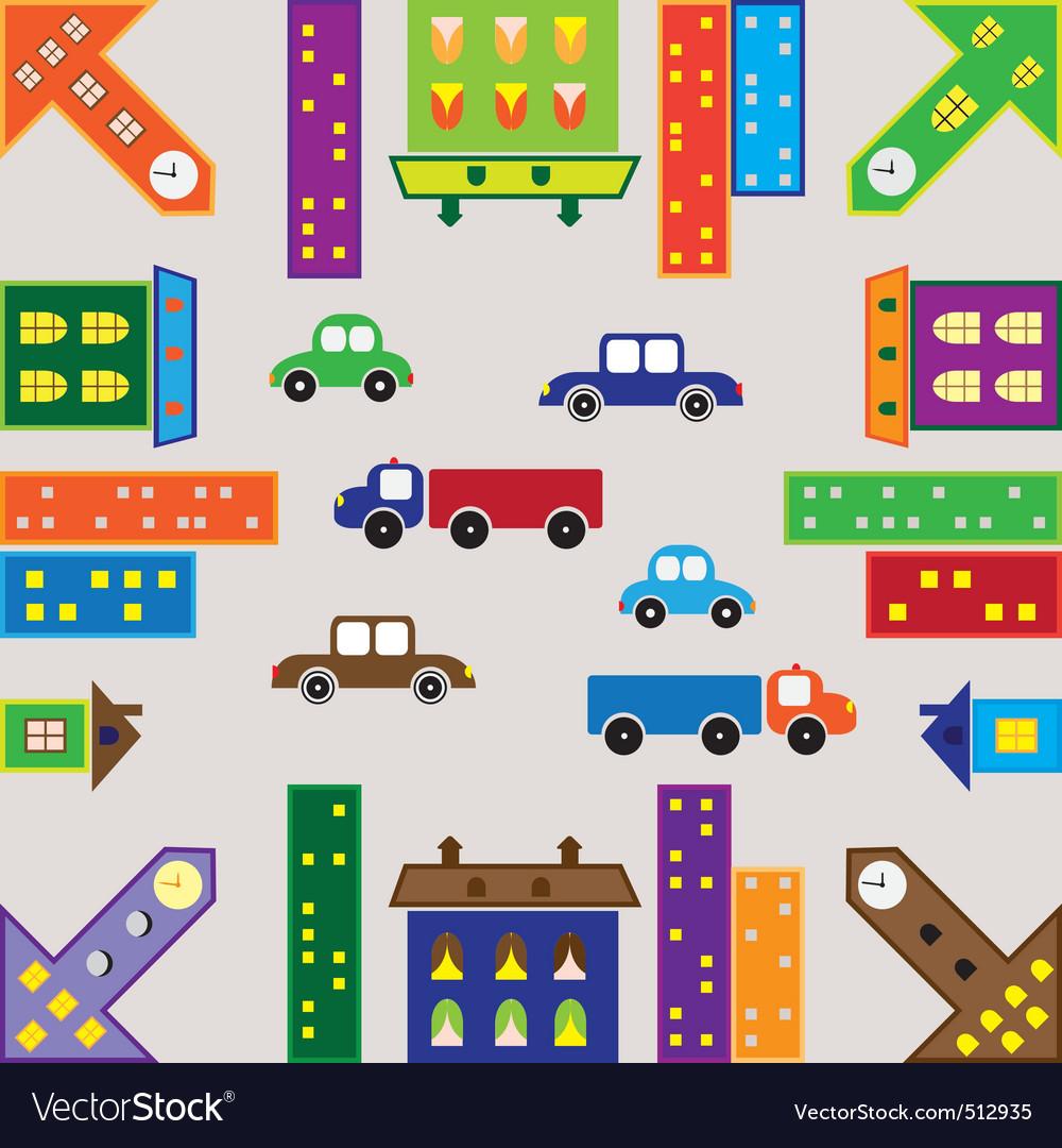 Seamless urban landscape vector | Price: 1 Credit (USD $1)
