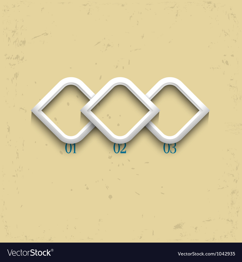 Three geometric numbered banners vector | Price: 1 Credit (USD $1)