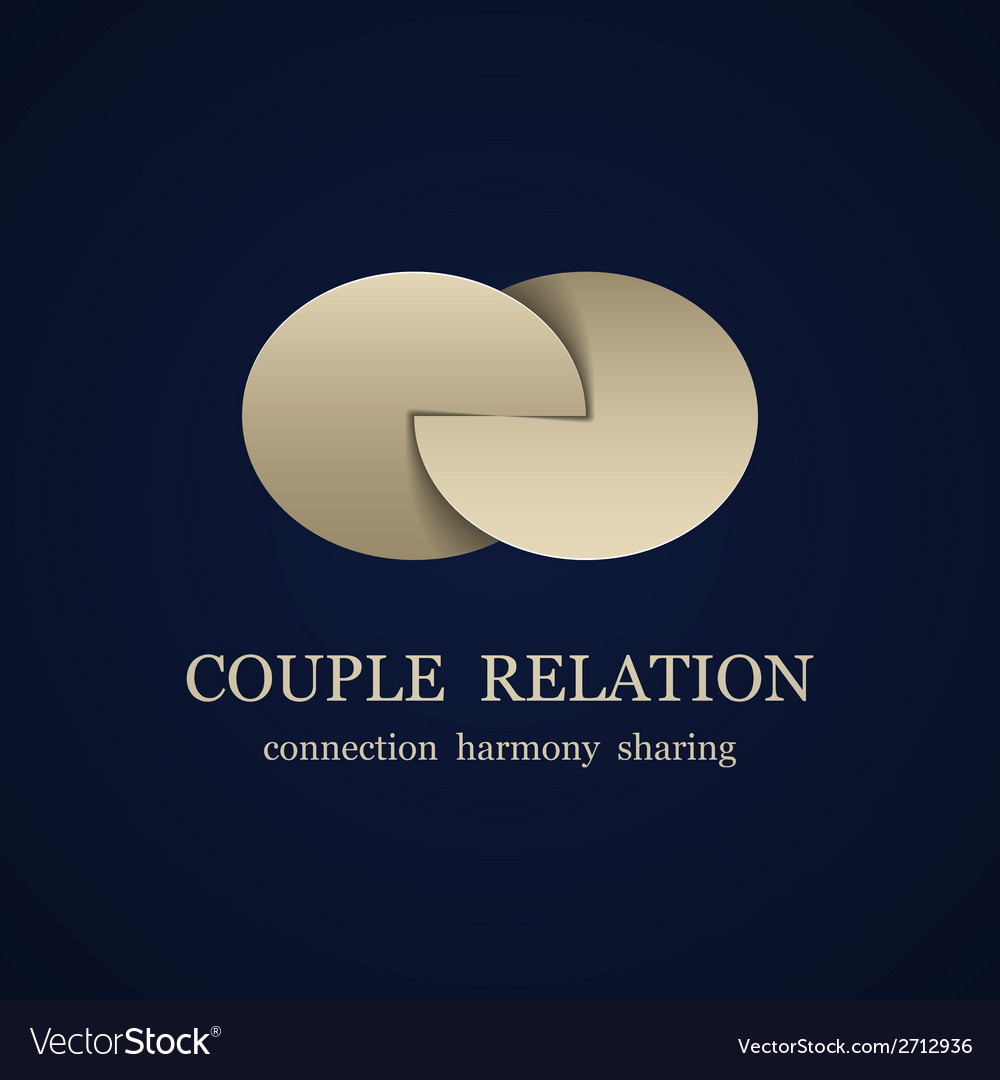 Abstract couple relation symbol vector | Price: 1 Credit (USD $1)