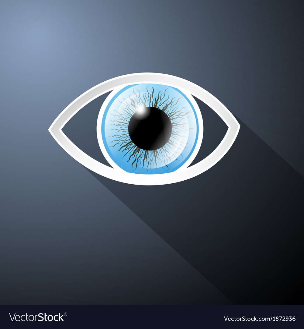 Abstract paper blue eye on dark blue background vector | Price: 1 Credit (USD $1)