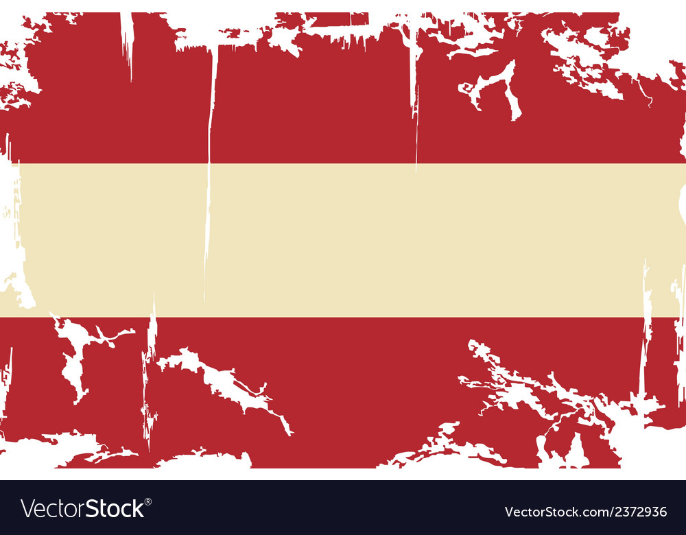 Austrian grunge flag vector | Price: 1 Credit (USD $1)
