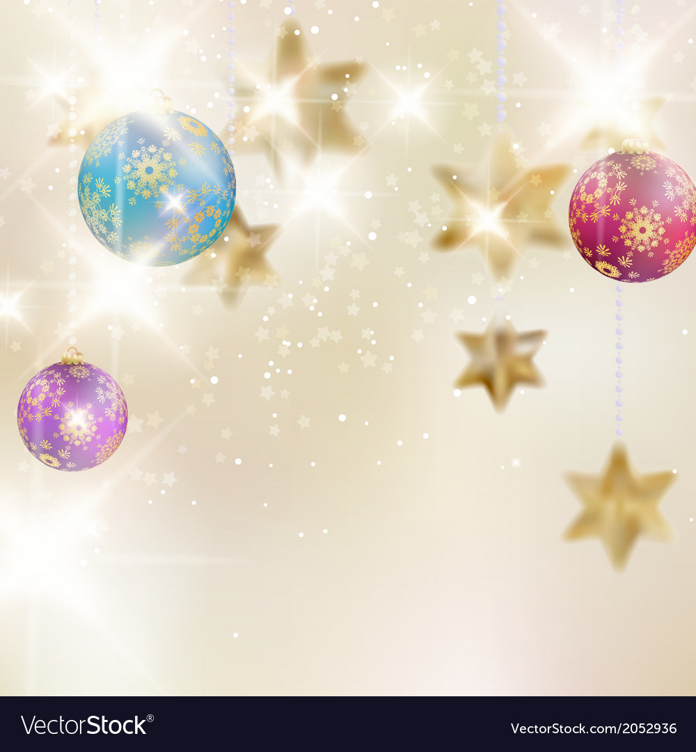 Christmas background with baubles vector | Price: 1 Credit (USD $1)