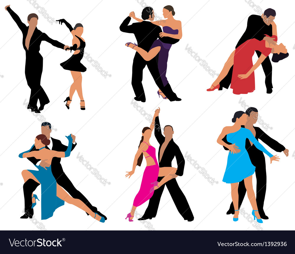 Dancing couples vector | Price: 3 Credit (USD $3)