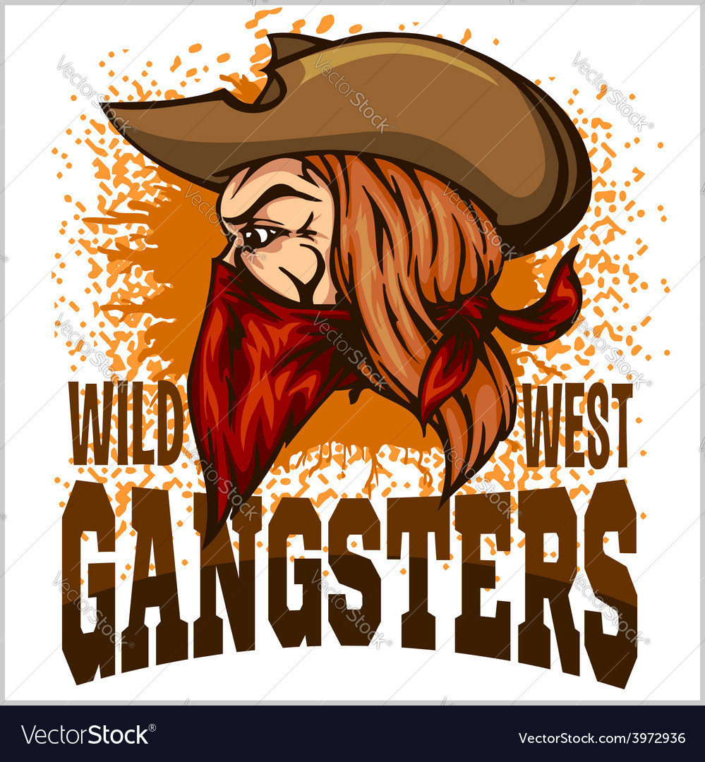Gangster in retro scratch background vector | Price: 3 Credit (USD $3)