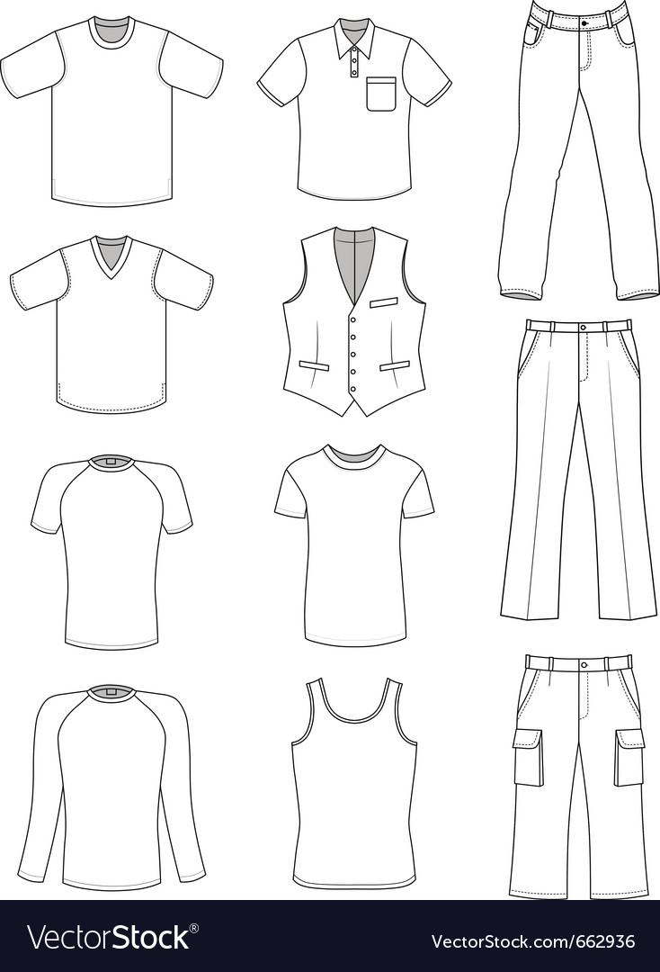 Man clothes summer collection vector | Price: 1 Credit (USD $1)