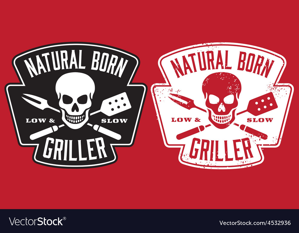 Natural born griller barbecue image vector | Price: 1 Credit (USD $1)