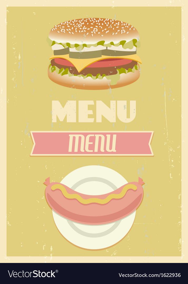 Retro menu set vector | Price: 1 Credit (USD $1)