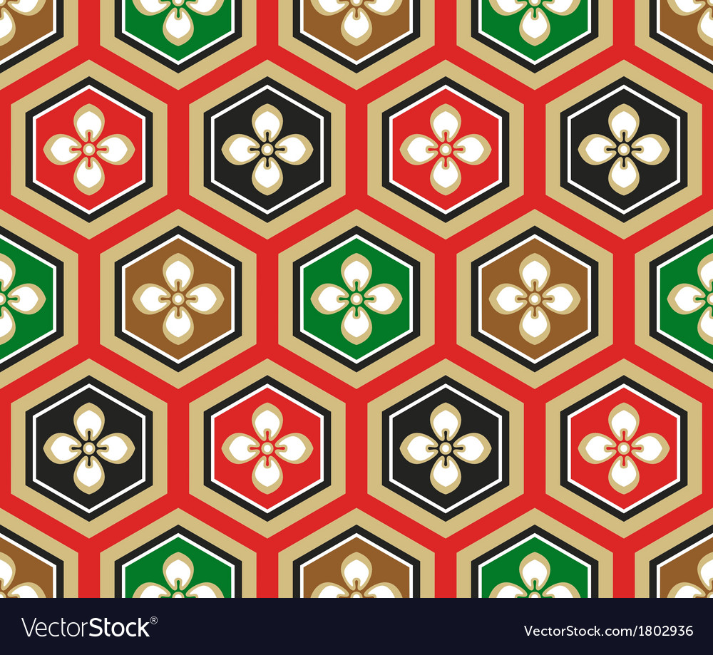 Seamless japanese traditional pattern vector | Price: 1 Credit (USD $1)