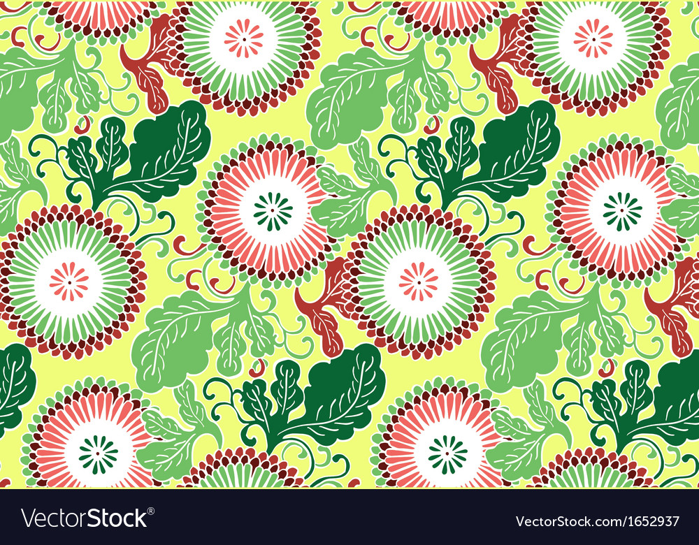 Asian flowers vector | Price: 1 Credit (USD $1)