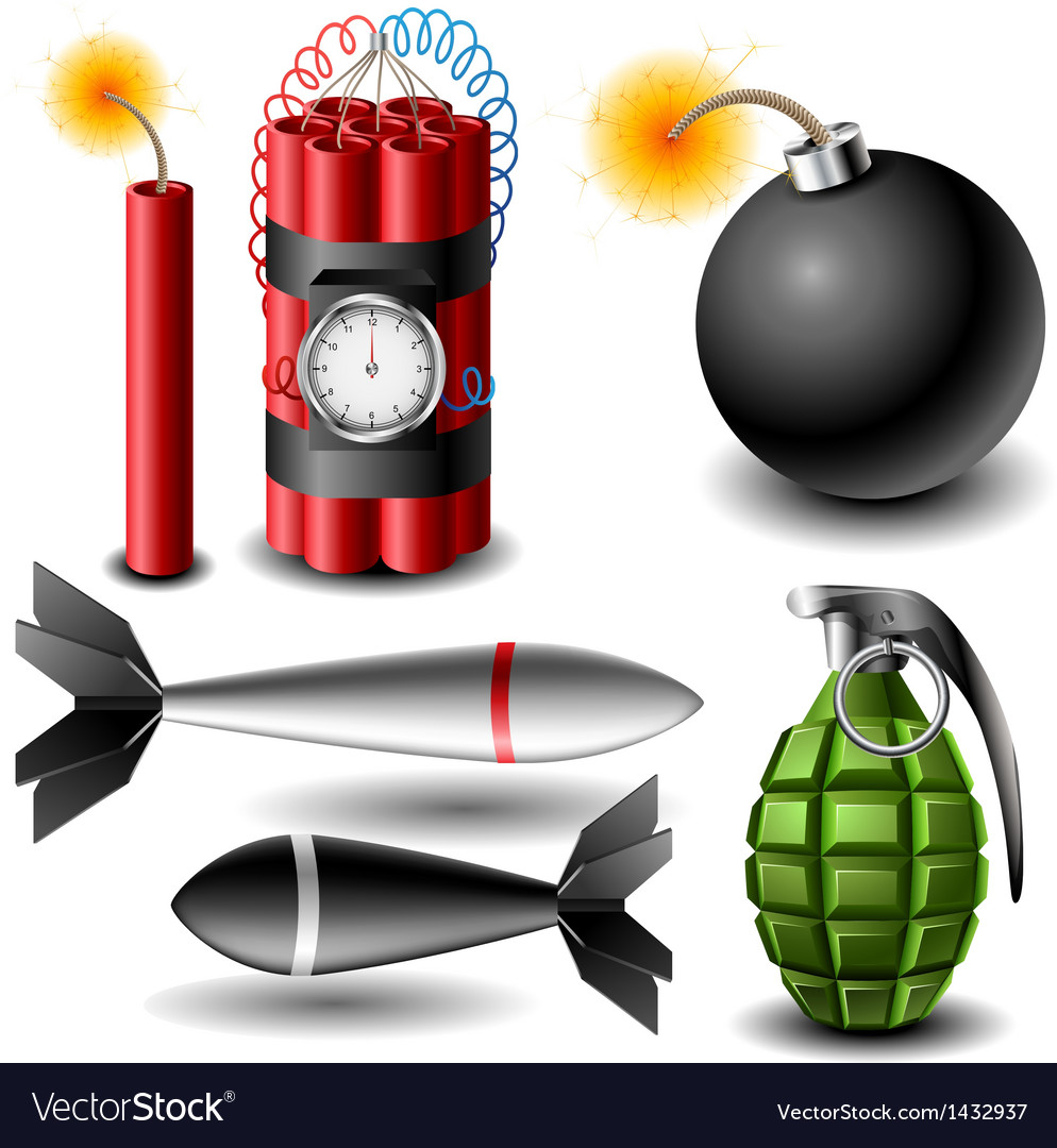 Bomb set vector | Price: 3 Credit (USD $3)